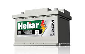 Bateria Start Stop Heliar AGM em Curitiba