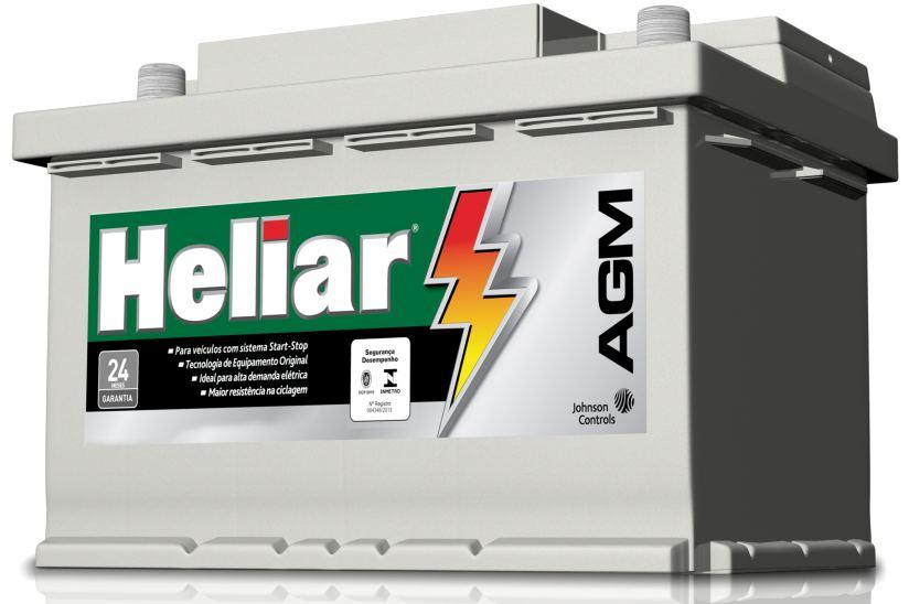 Bateria Automotiva Start Stop Heliar AGM em Curitiba